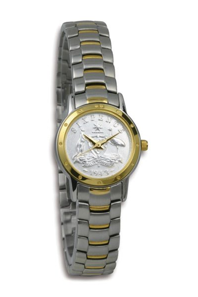 Silver Australian Sixpence Coin Watch