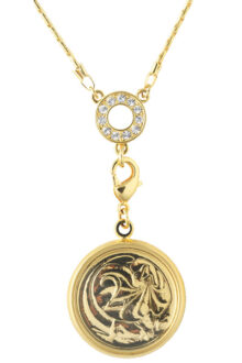 Gold Australian 2 Cent Coin Women's pendant necklace