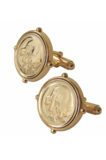 Gold Plate Australian One Cent Coin Men's or Ladies' set of cufflinks