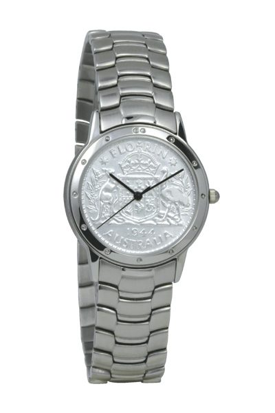 Silver Australian Florin Men's Coin watch