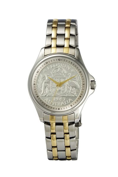 Silver Australian Florin Coin watch