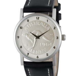 Silver Australian Kangaroo Penny Men's or Women's Coin watch
