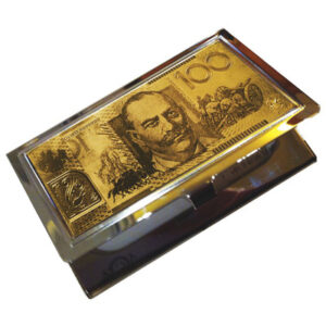 Men's or Ladies' Australian $100 Note business card holder